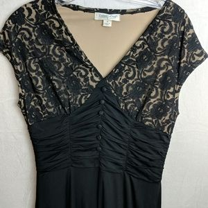 Coldwater Creek size 8 black lace dress